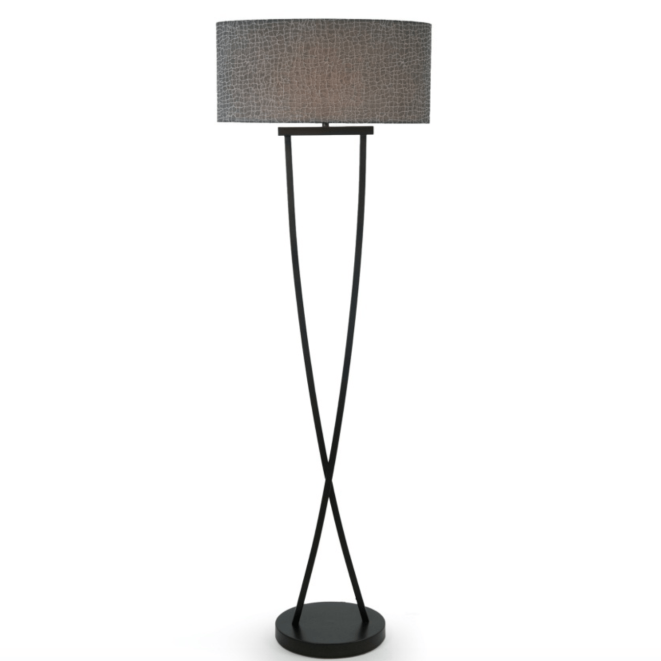 Bronze Crossover Curved Floor Lamp