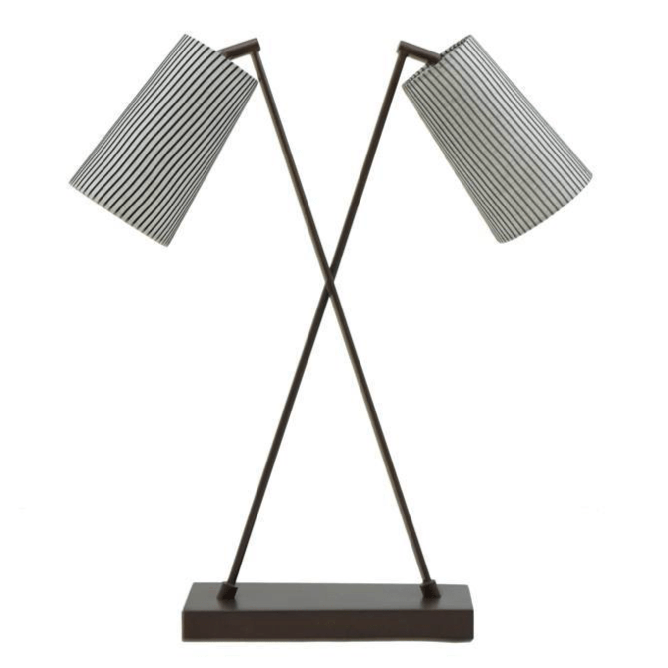 Bronze Crossover Double Shade Table Lamp