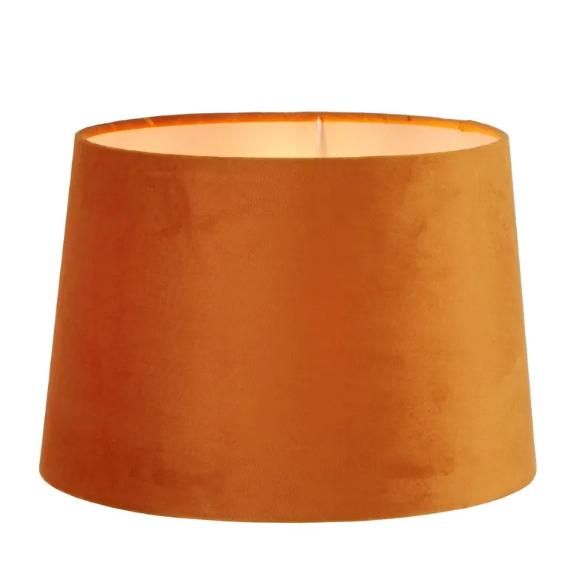 Lamp Shades Burnt Orange Velvet Shade