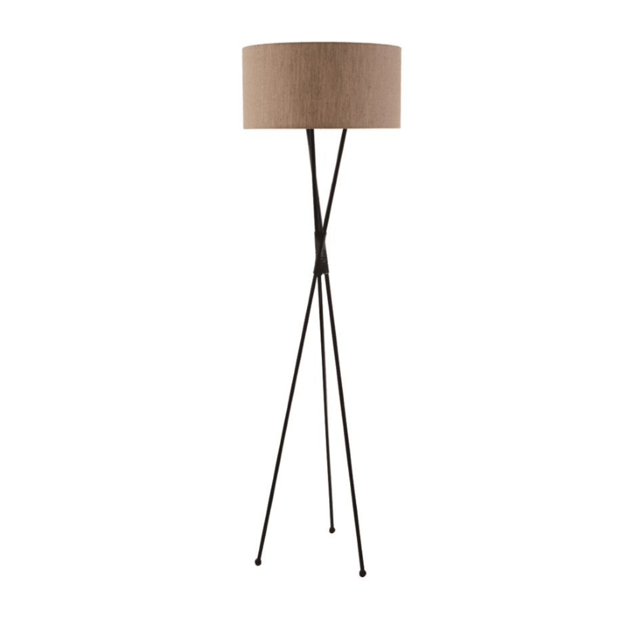 Floor Lamps Crossover Black Metal Floor Lamp