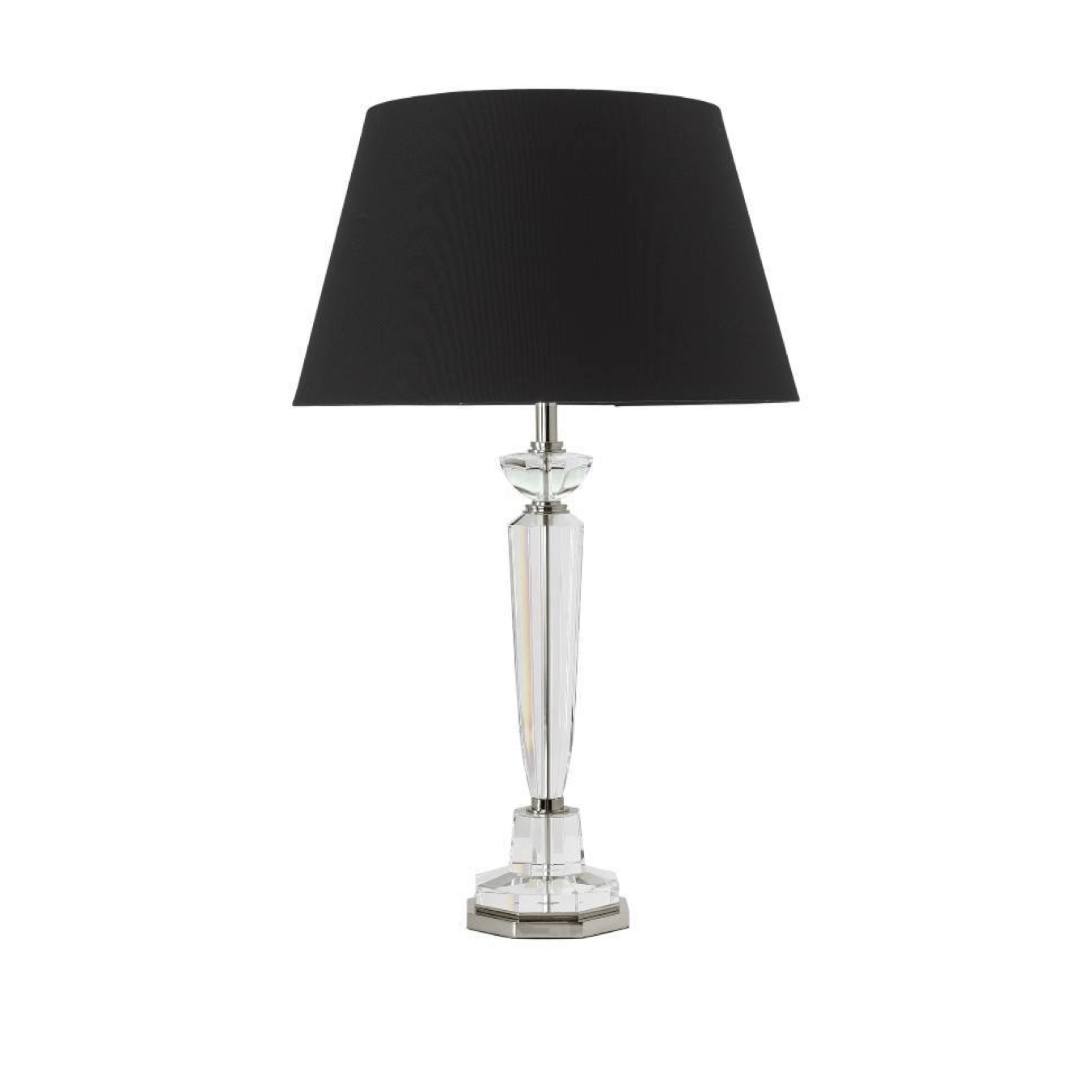 Table Lamps Crystal & Shiny Nickel Table Lamp