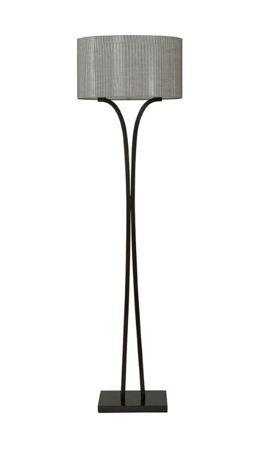 Floor Lamps Dark Antique Bronze Arbor Double-Stem Floor Lamp