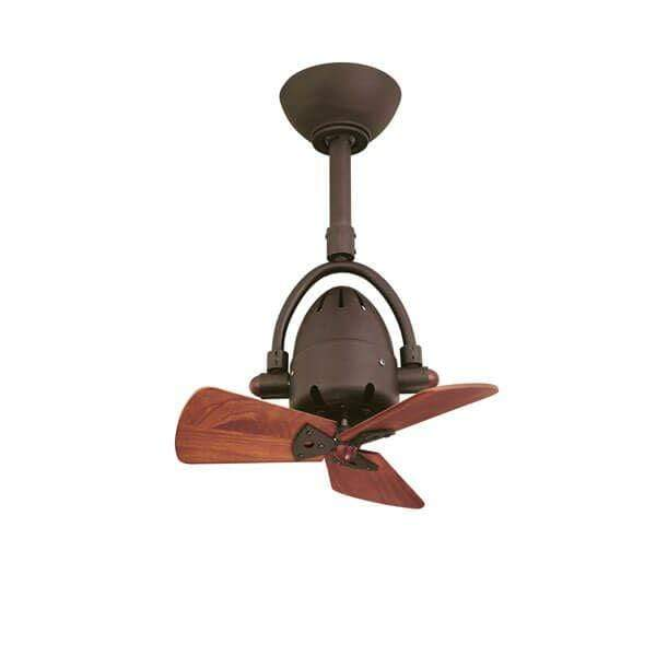 Indoor Fans Diane Ceiling Fan - Textured Bronze/Wooden Blades Lighting Shops