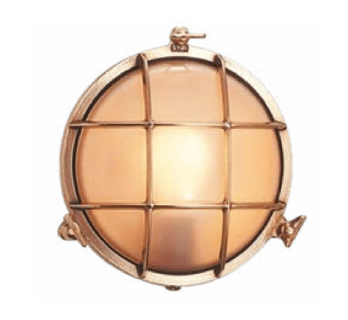 Bunkers Eden & Scarborough Brass Bunker Wall Light