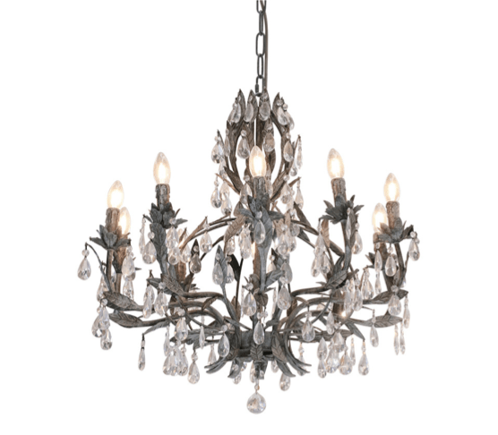Interior Pendant Fleurence Chandelier - 10L Two Tone Taupe