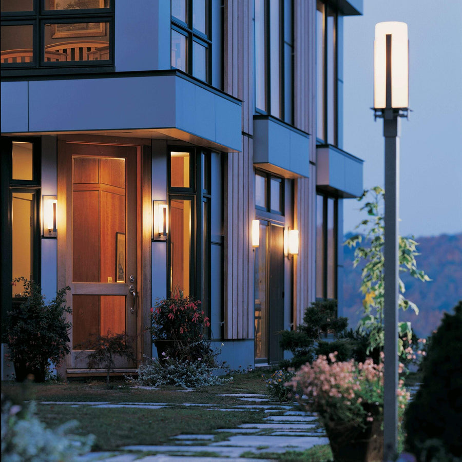 Exterior Wall Light Forged Vertical Bars Small Outdoor Sconce