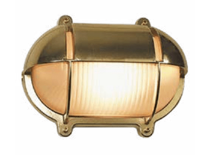 Bunkers Fremantle Brass Bunker LED Exterior Wall Lights