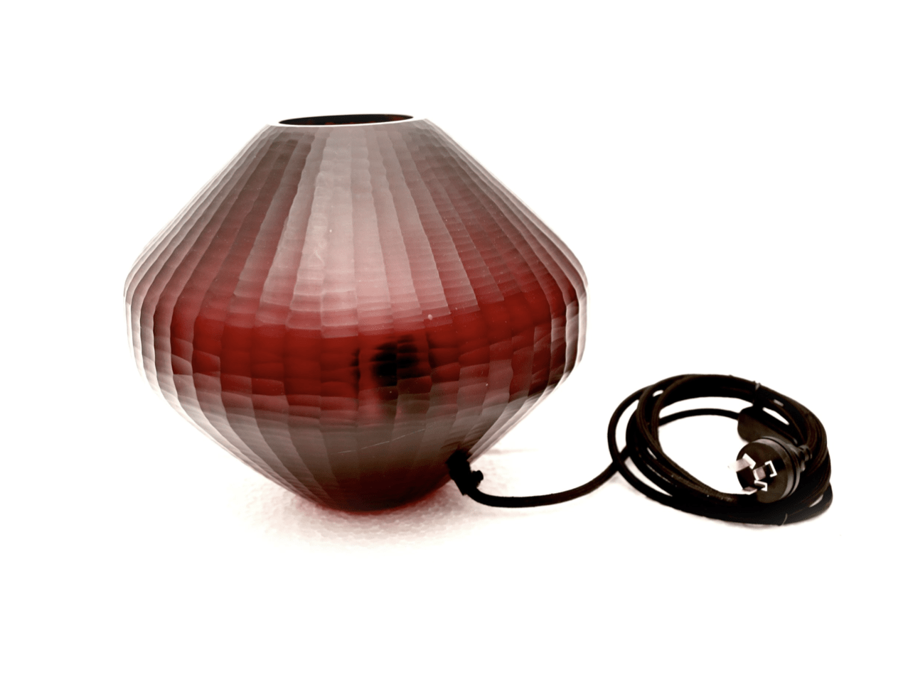 Table Lamps Hand Cut Glass Table Lamp - Ruby