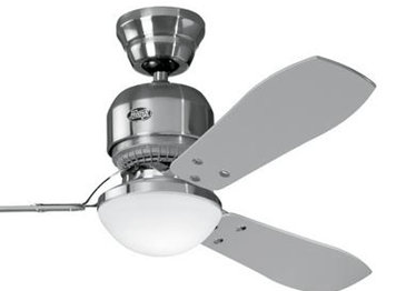 Indoor Fans Industrie II Ceiling Fan - Brushed Chrome Lighting Stores