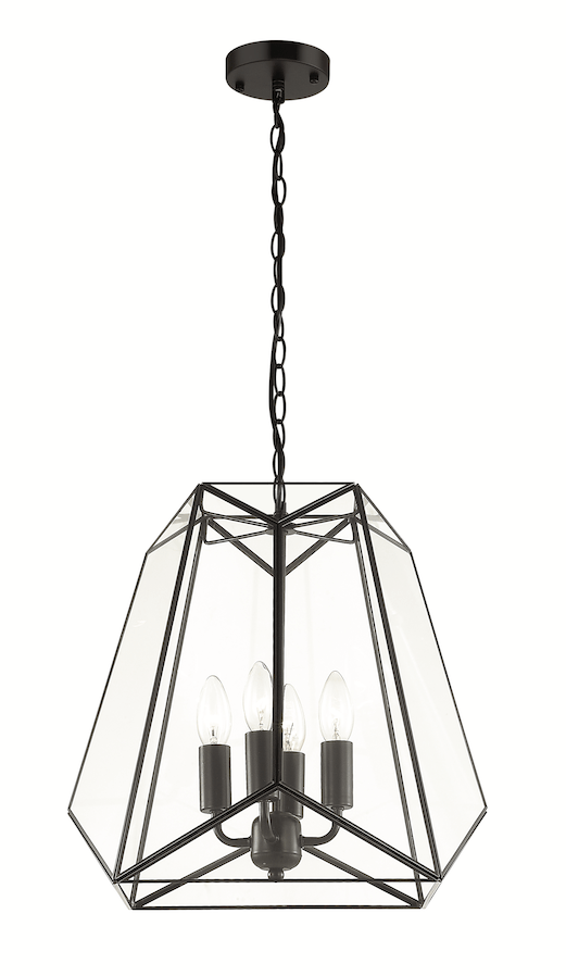 Interior Pendant Lantern Large Pendant with Bevelled Glass