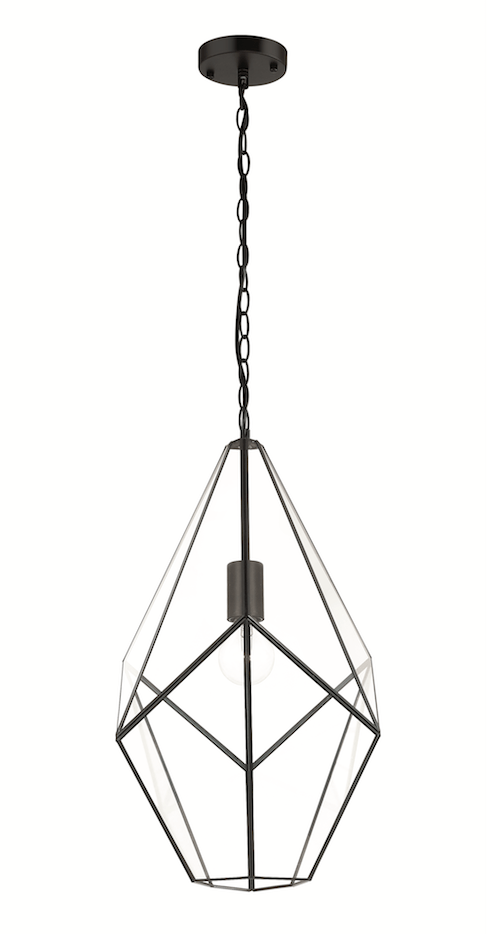 Interior Pendant Lantern Pendant with Bevelled Glass