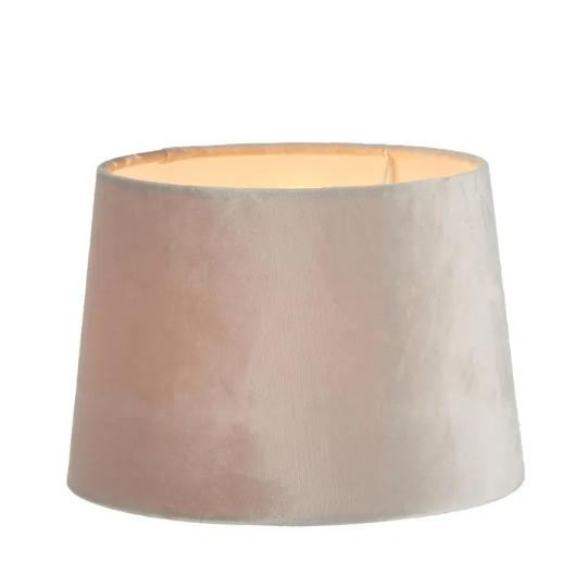 Lamp Shades Mist Grey Velvet Shade