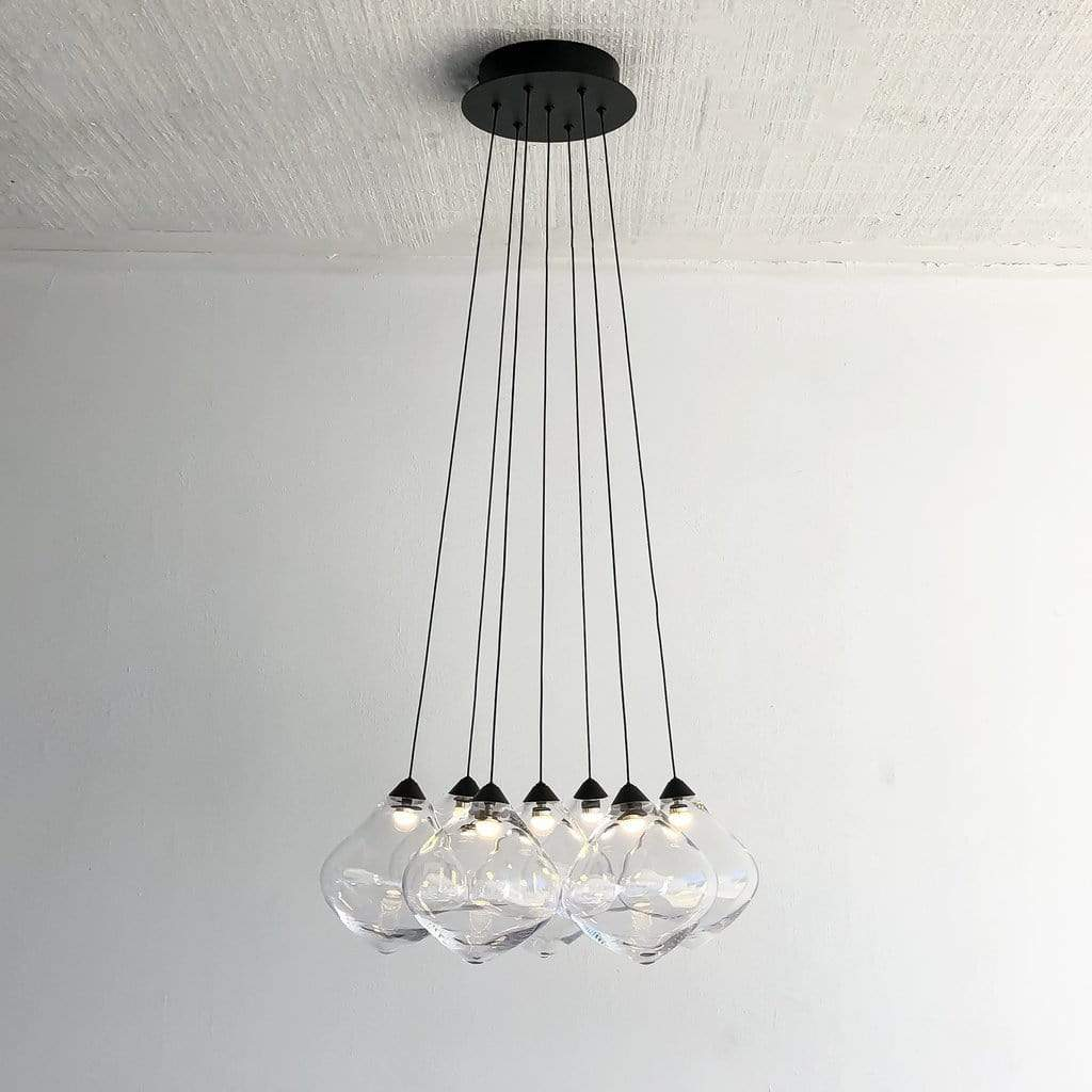 Interior Pendant OLLO Seven Clear Cluster Pendant Light