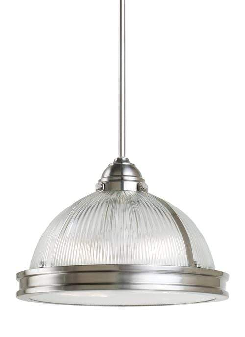 Interior Pendant Pratt Street Pendant - Brushed Nickel with Clear Class