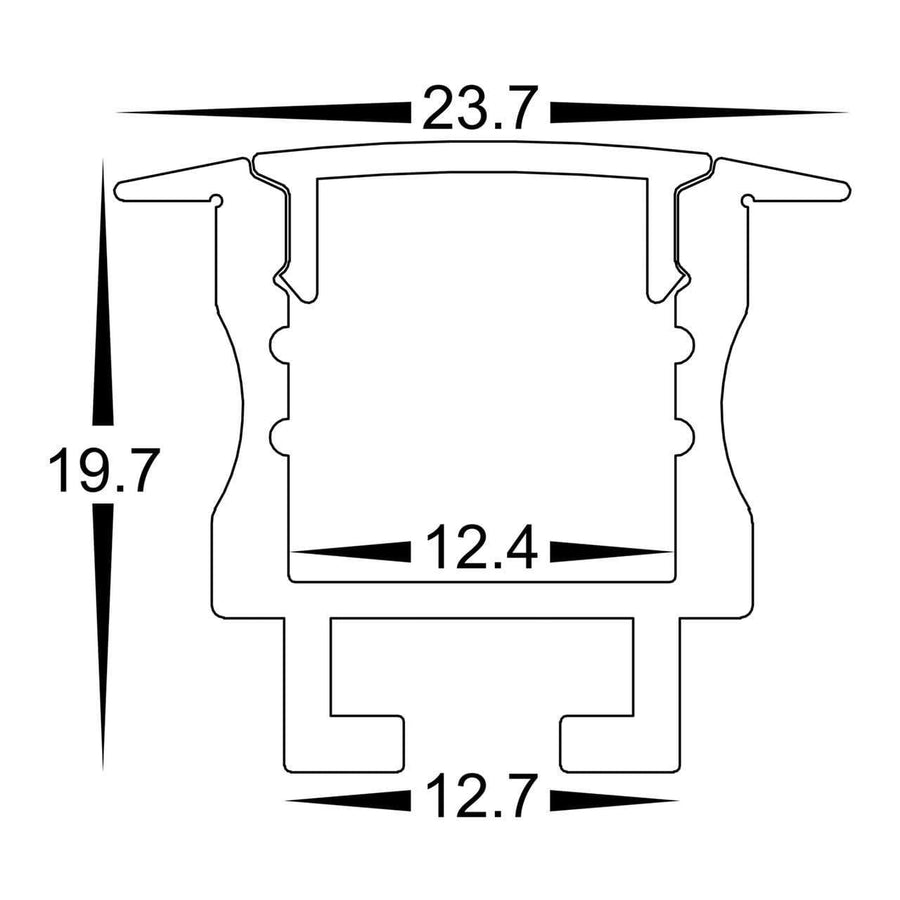 Profiles Recessed Profile - Deep Winged Spring Clips - HV9695-2520