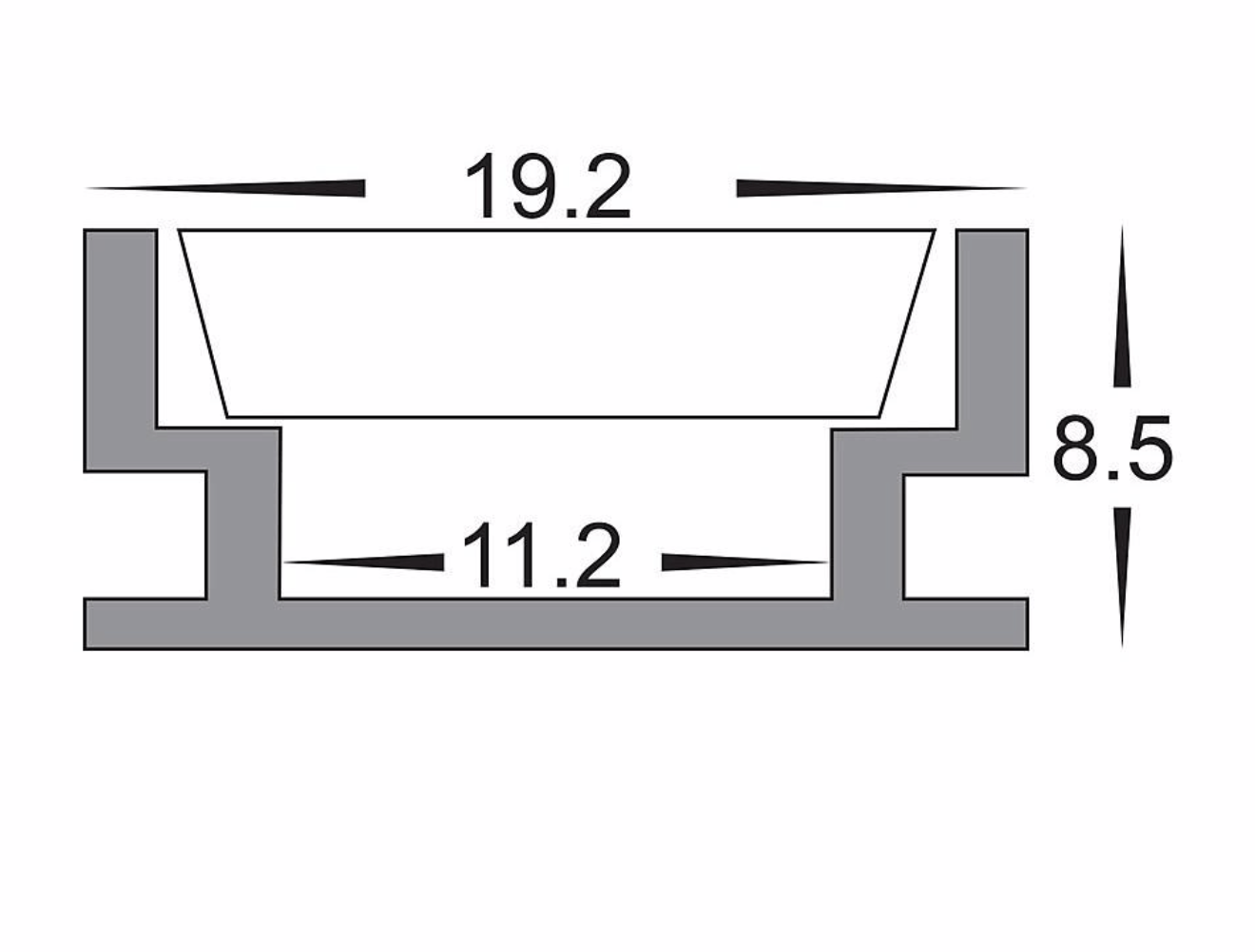 Profiles Recessed Profile - Foot Trafficable Shallow - HV9698-1908