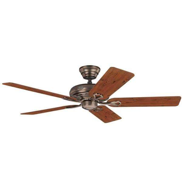Indoor Fans Savoy Ceiling Fan - Amber Bronze/Distressed Cherry Lighting Stores