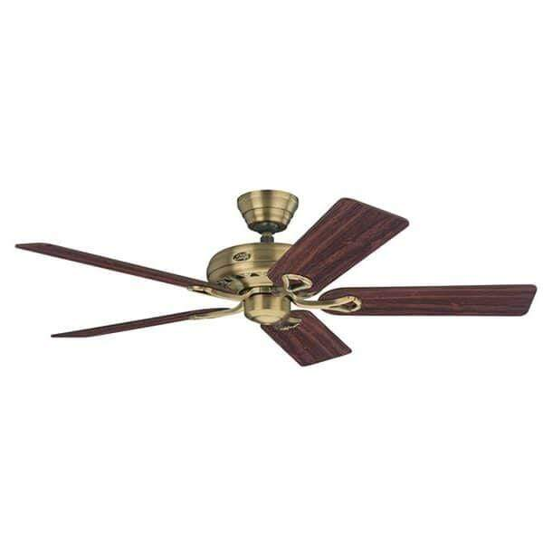 Indoor Fans Savoy Ceiling Fan - Antique Brass/Rosewood Lighting Stores