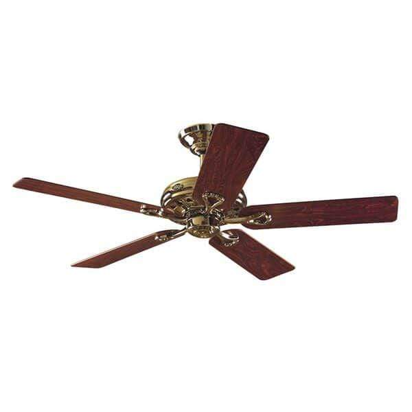 Indoor Fans Savoy Ceiling Fan - Bright Brass/Rosewood Lighting Stores