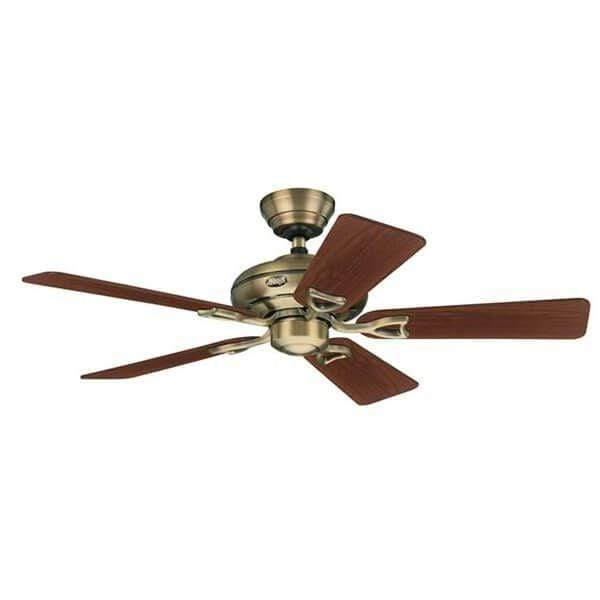 Indoor Fans Seville II Ceiling Fan - Antique Brass/Walnut Lighting Stores