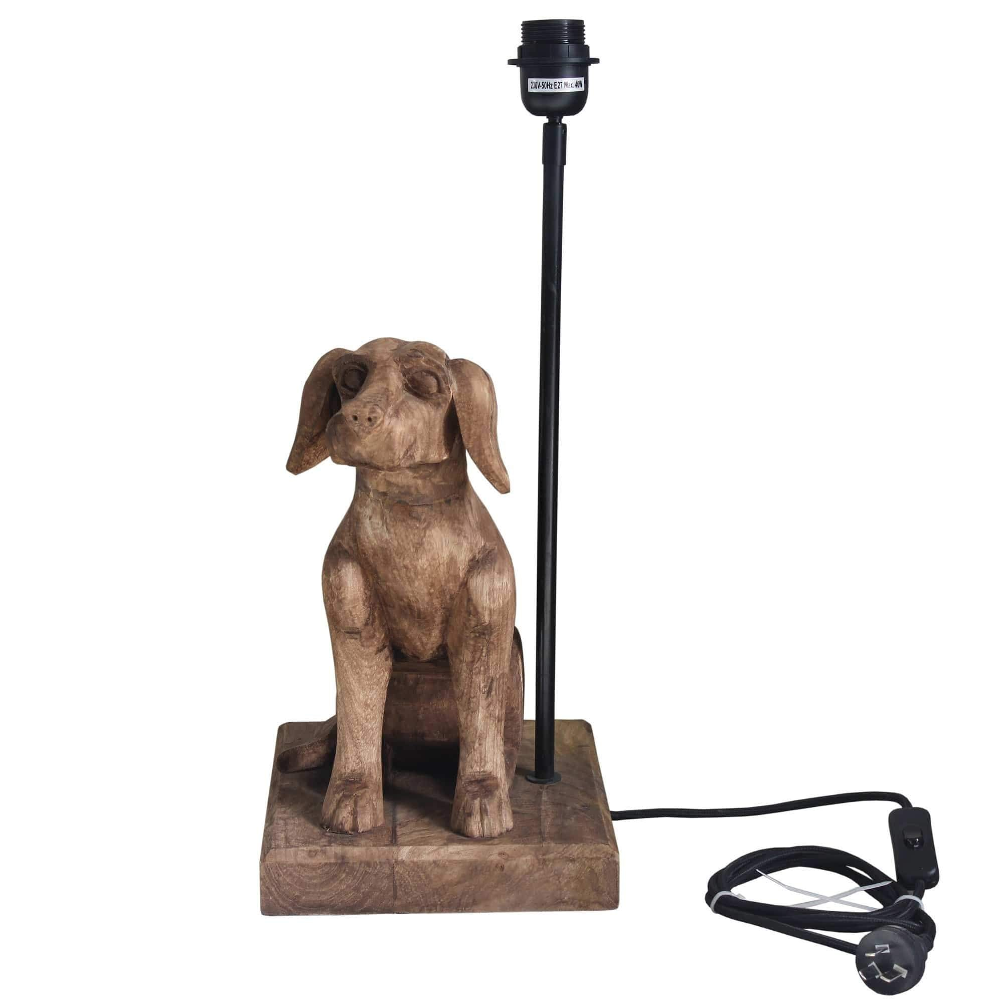 Table Lamps Small Wooden Dog Table Lamp