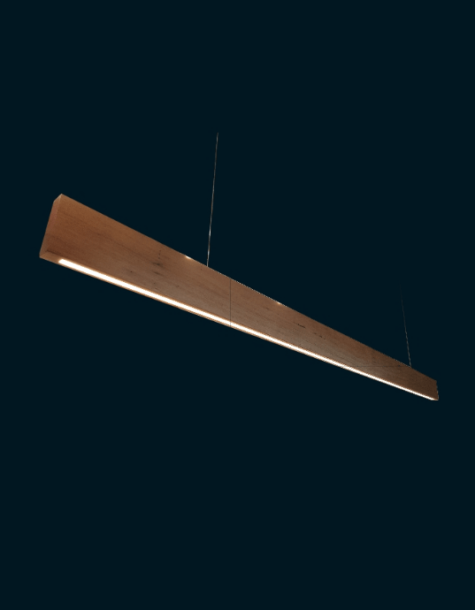 LED Interior Pendant SOLID Timber Linear Pendant lighting shops lighting stores LED lights  lighting designer
