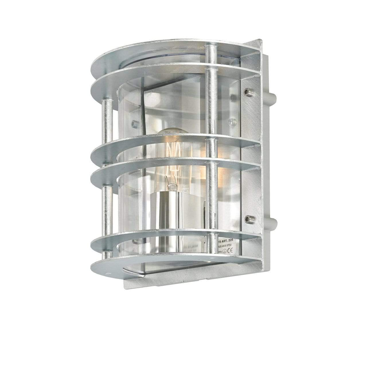 Exterior Wall Light Stockholm Flush Wall Light