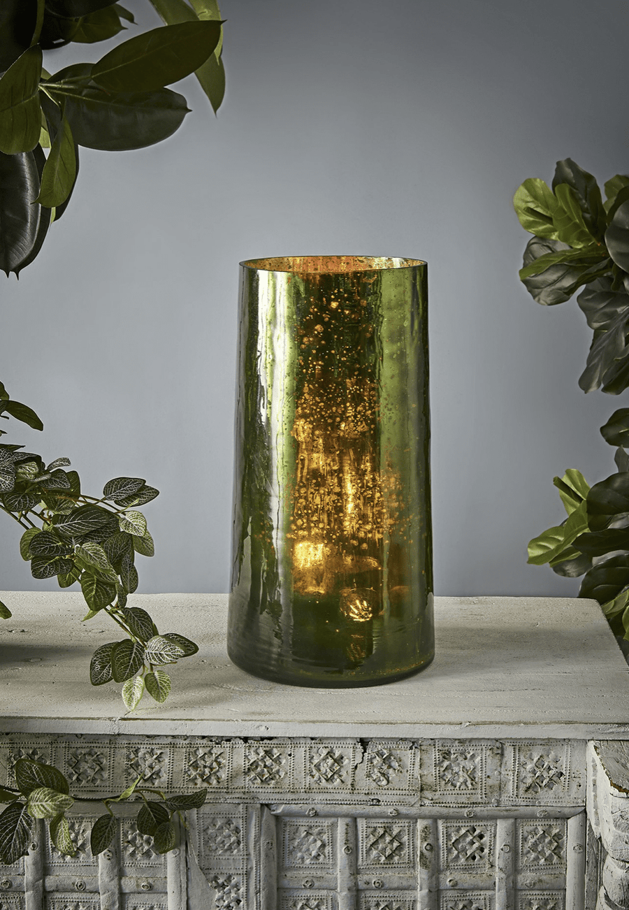 Tall Cylinder Art Glass Table Lamp lighting shops lighting stores LED lights  lighting designer