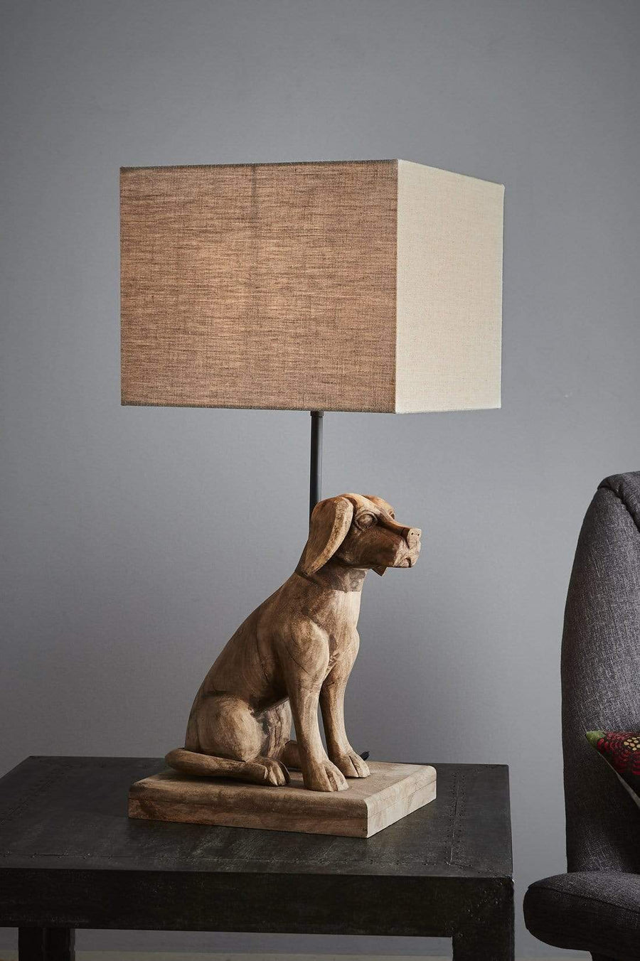 Wooden Dog Table Lamp lighting shops lighting stores LED lights  lighting designer