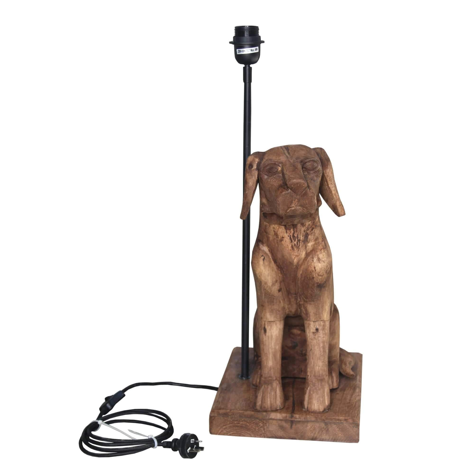Table Lamps Wooden Dog Table Lamp
