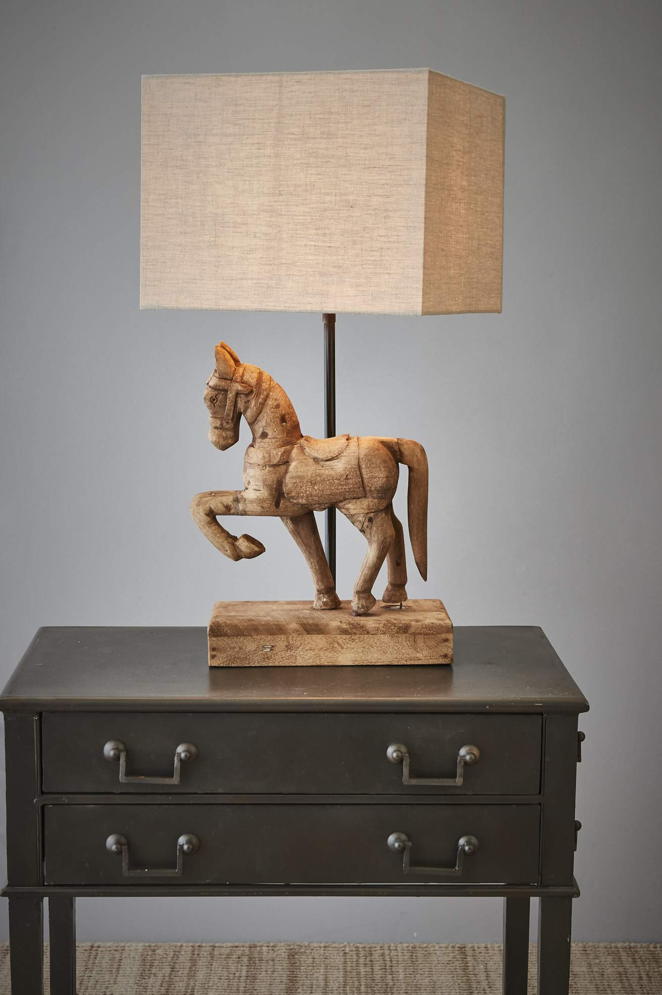Table Lamps Wooden Horse Table Lamp