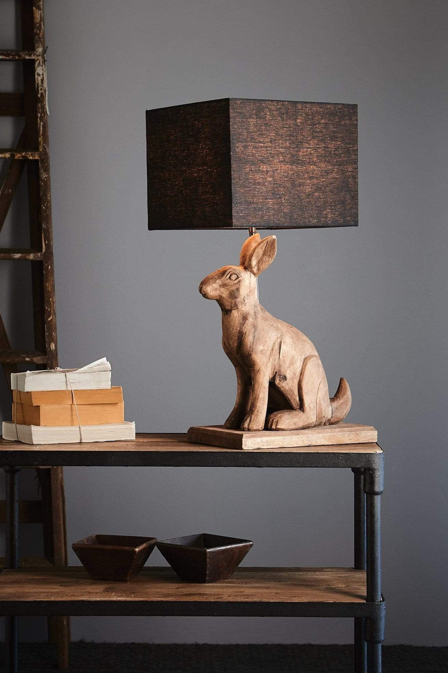 Wooden Rabbit Table Lamp lighting shops lighting stores LED lights  lighting designer