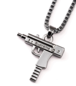 Supreme Machine Gun Electro-Plated Gold Necklace  (PRE-PAID)