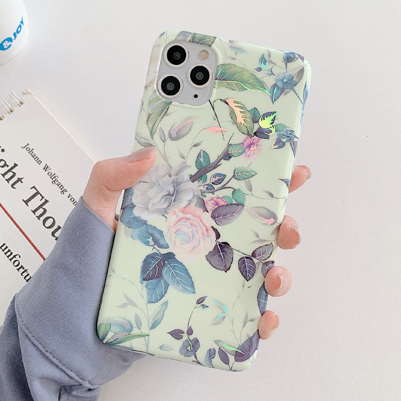 Laser Flowers Mobile Phone Silicone Soft Case
