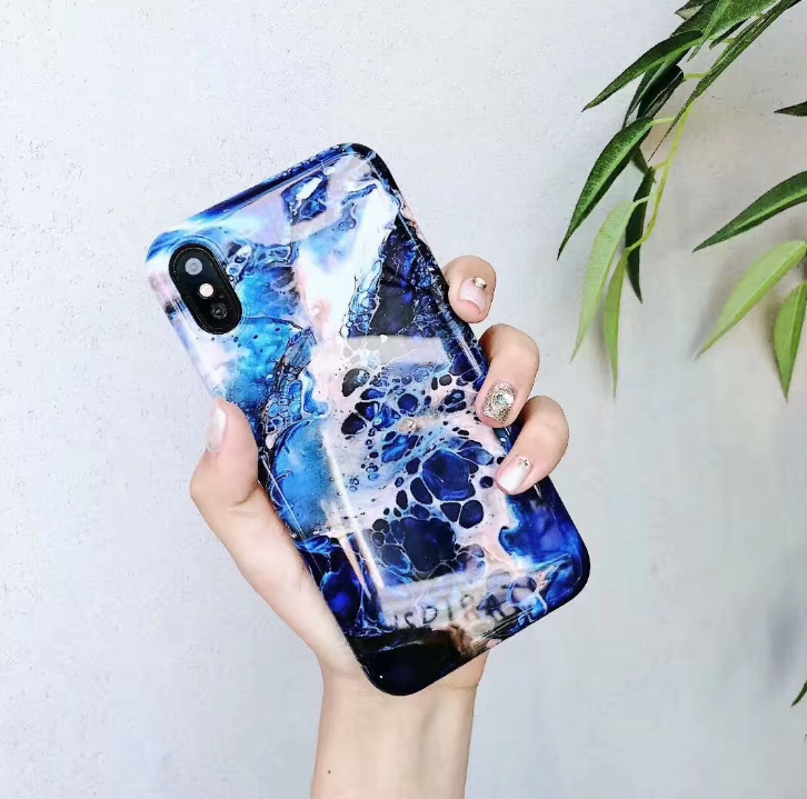 Marble TPU Phone Case For iPhone 7 6 6s Plus Colorful Stone Image Pattern Cases For iPhone 8 7 X Plus Soft Back Cover