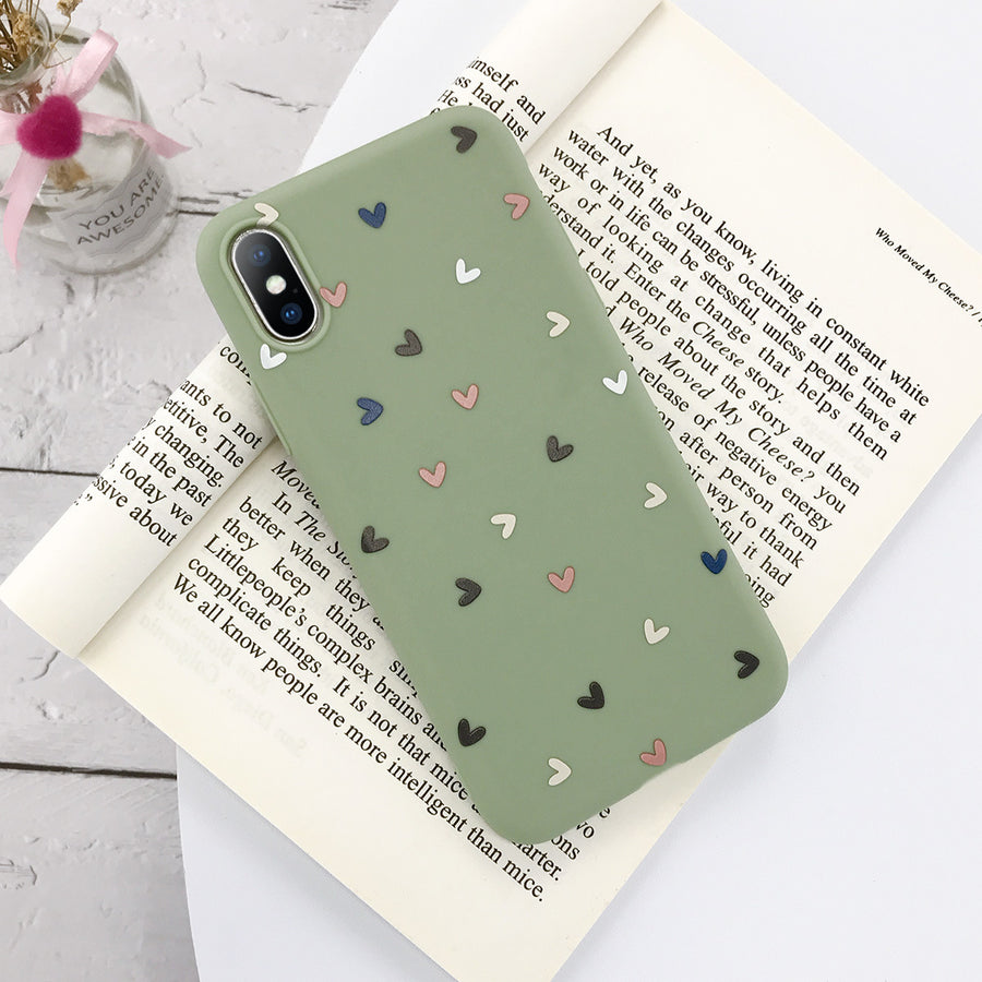 Small Flower Love Dot Mobile Phone Case Transparent Soft Case