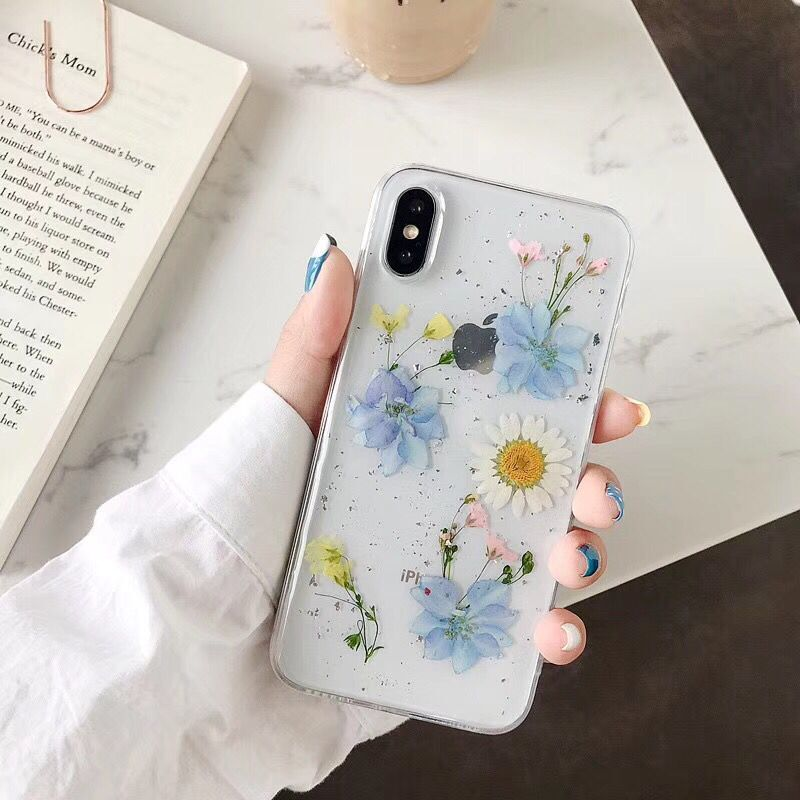 Epoxy Preserved Flower Phone Case Apple