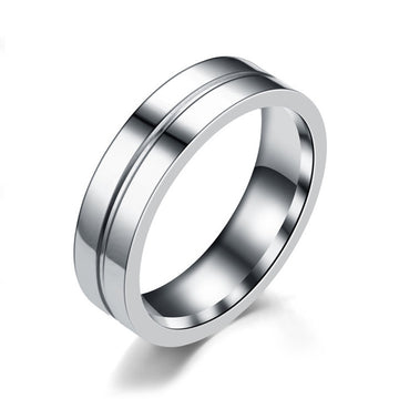 Simple Car Line Men s Titanium Steel Ring Zircon Couple Ring