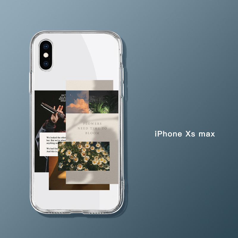 Suitable For IPhone12 Mobile Phone Case Apple 12ProMax All-Inclusive Pro Transparent Mini Creative Max Collage
