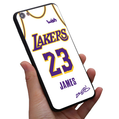 Lakers James Jersey 23 phone cover case for iphone X XS MAX XR 10 8 7 6 6S plus cases 3d relief matter soft silicon coque capa