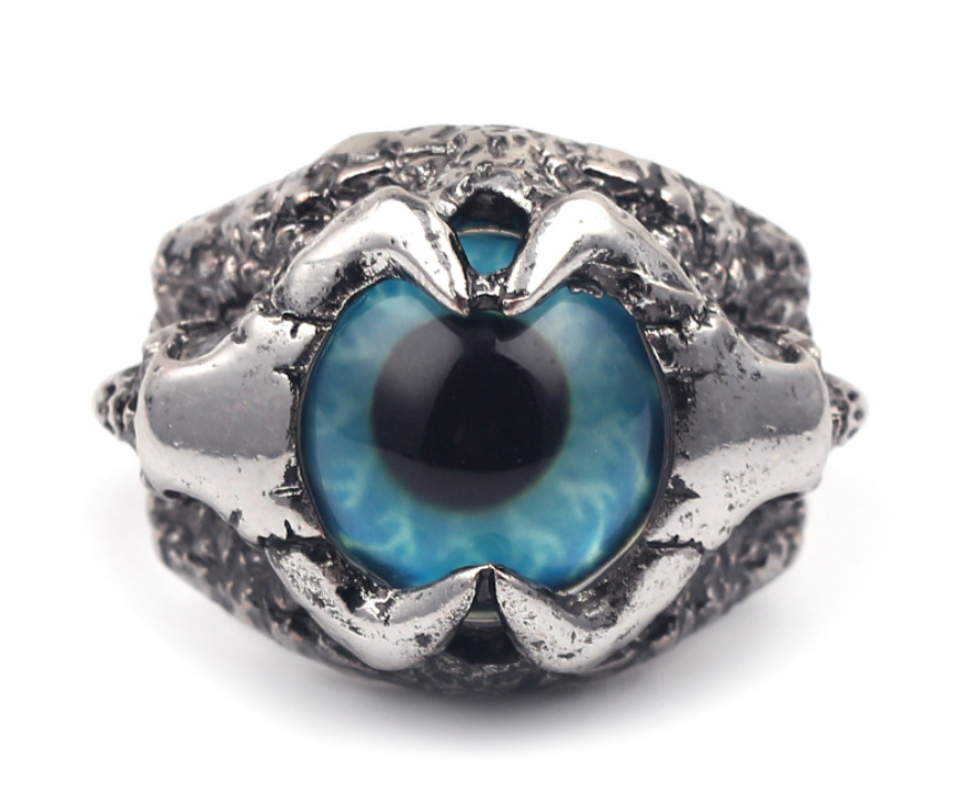 Ceremonial Raven Eye And Talon Ring (PRE-PAID)
