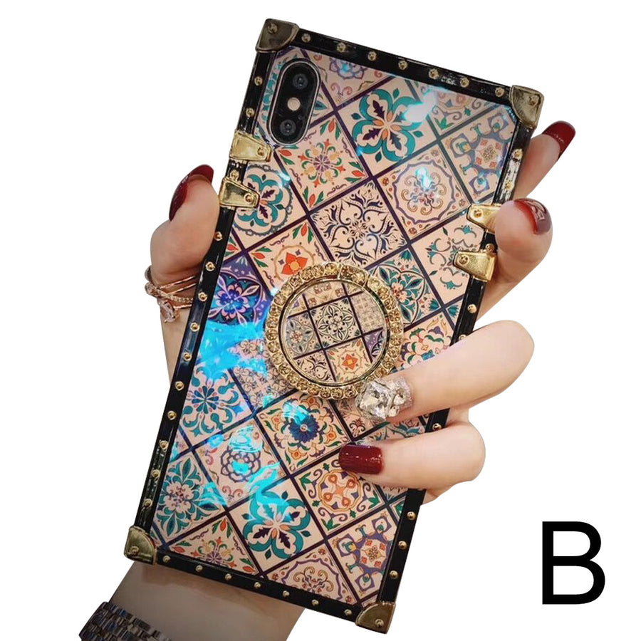 Ethnic style sub-blue ring bracket mobile phone case