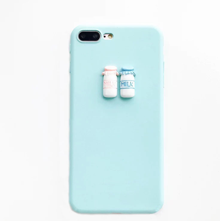 Simple frosted milk bottle mobile phone case