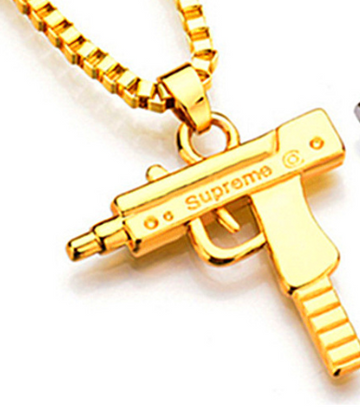 Supreme Machine Gun Electro-Plated Gold Necklace