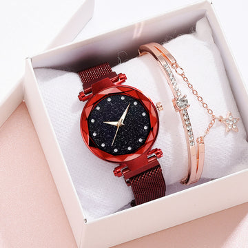 Luxury Style Crystal Watch With Bracelet