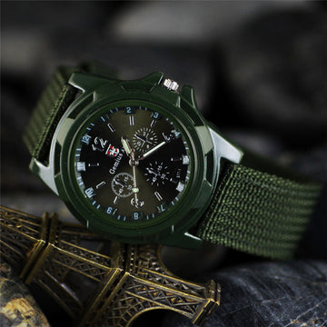 Nylon braided military watch