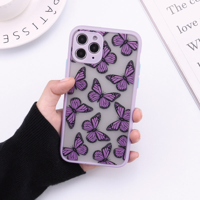 Fashion Butterfly Fine Hole All-inclusive Skin Phone Case