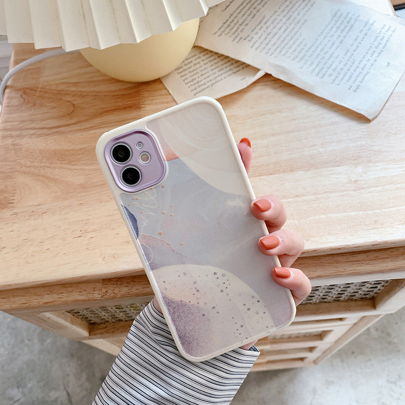 Camera Protection Phone Case Marble Soft TPU For iPhone 12 11 X 7 8