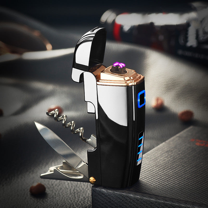 Multifunctional Rechargeable ARC Lighter - Pocket Knife Combo