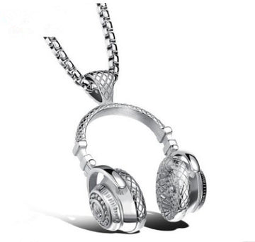 Titanium Headphones Necklace